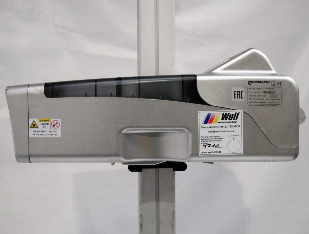 Beissbarth MLD 815 Scheinwerfereinstellgerät Seitenansicht