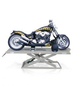 Scherenhebebühne Motorradhebebühne mit Motorrad